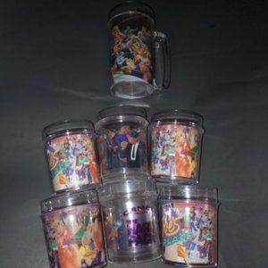 Vintage Joe Camel Hard Plastic Cups/Mug Set of 7
